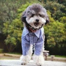 Одежда для собак для маленьких собак полосатая рубашка для чихуахуа хлопковая куртка для французского бульдога щенок йоркширского терьера одежда костюм для домашних животных