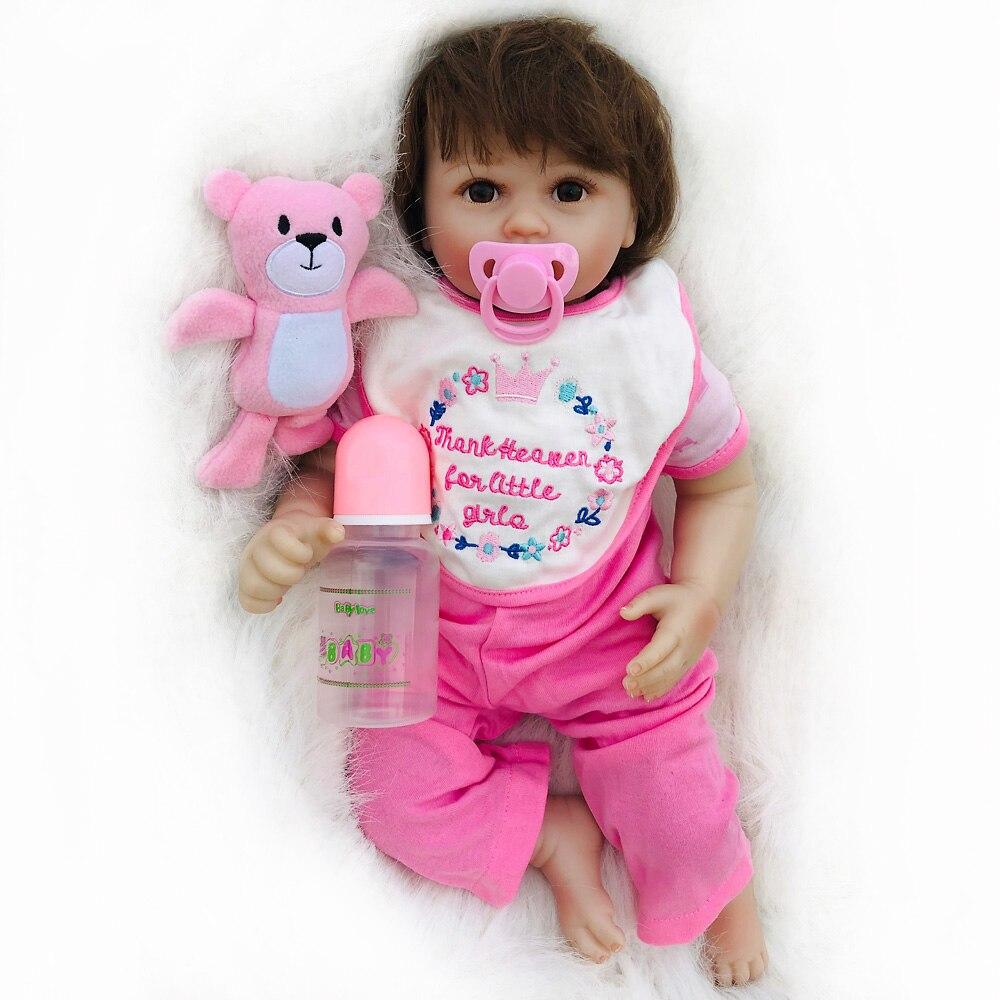 OtardDolls 20 zoll bebe reborn puppe Weiche Vinyl Silizium lebensechte reborn baby puppen Spielzeug für Mädchen Geburtstag Geschenk-in Puppen aus Spielzeug und Hobbys bei  Gruppe 2