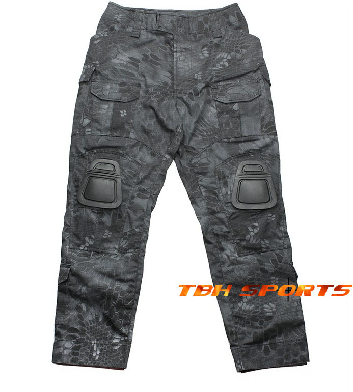 TMC 2133 Combat Pants With Kryptek Typhon Camo & Knee Pads Outdoor Pants+Free shipping(SKU12050214) tactical airsoft paintball combat pants with knee pads soldier trainer outdoor sport survival field game trouser free shipping
