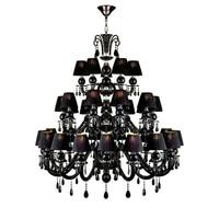 European Retro Duplex Villa Bedroom Living Room Crystal Chandelier Luxury High Rise Hotel Lobby Banquet Hall