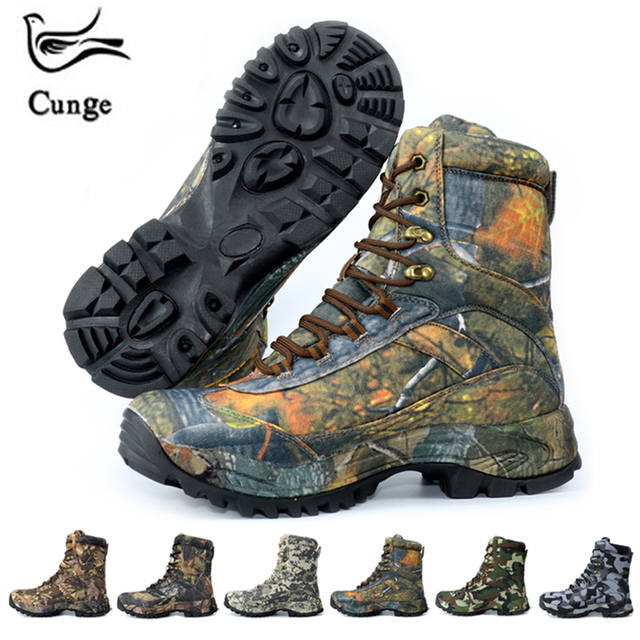 Cunge Sneakers Men Hiking Waterproof Shoes Tactical Boots Trekking Shoes Outdoor Sports Timber Land Shoes Hunting Climbing Boots
