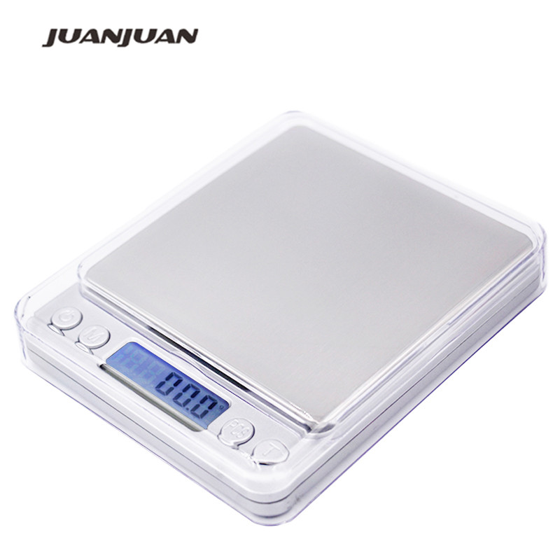 3000g x 0,1g Digitaalne taskuskaala 3kg 0.1 Juveeli kaalud elektroonilise köögi kaal 15%