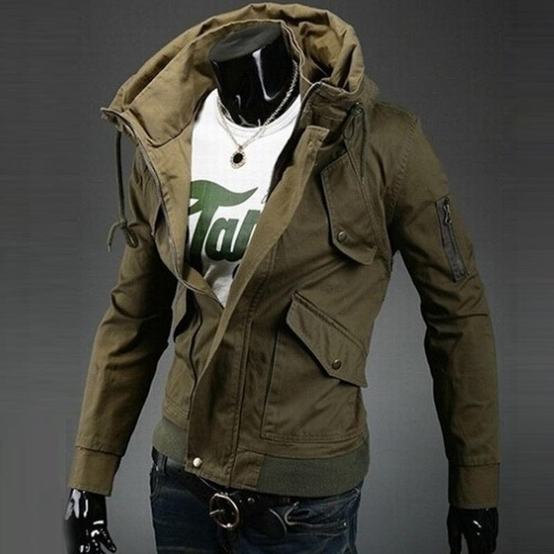 Hot Sale Men Bomber Jackets Slim Fit Double collar Outerwear Men Coat Suits Tracksuits A ...