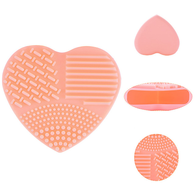 Heart Shape Make up Brushes Cleaning Scrubber 2