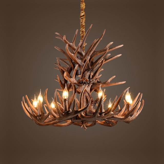 33 antler chandelier vintage style resin deer horn antler 33 antler chandelier vintage style resin deer horn antler chandelier9 lightsbulbs mozeypictures Gallery