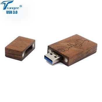 Trangee 10 ピース/ロット USB 3.0 フラッシュドライブクルミペンドライブ 8 ギガバイト 16 ギガバイト 32 ギガバイト 64 ギガバイトペンドライブギフト木箱送料彫刻ロゴ