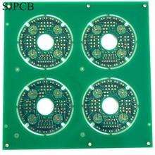 SJPCB ENIG панель печатью подключение через отверстия не похоронен или слепой Vias красивая готовая PWB