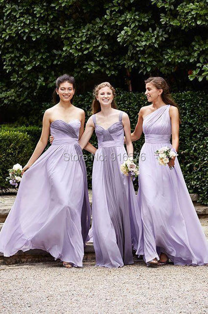 Light Purple Bridesmaid Dresses 2017 Three Diffe Styles New Fashion Trendy Maid Of Honor Dress