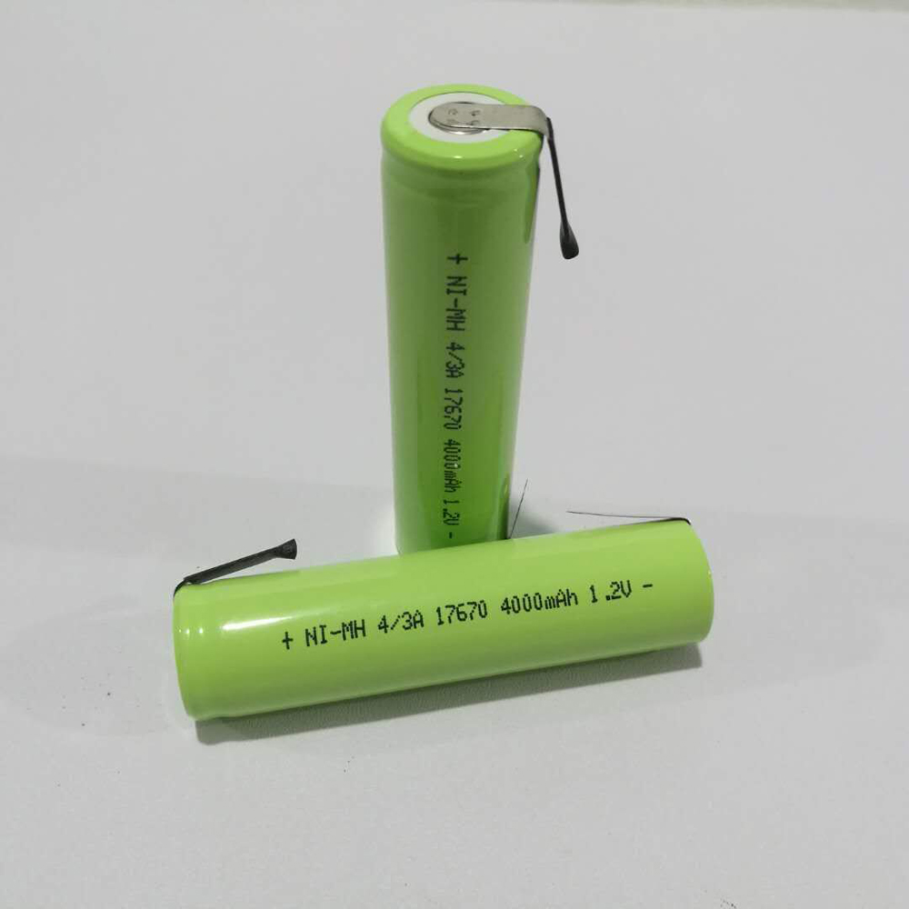 2-10pcs 4/3A 1.2V Rechargeable Battery 4000mah 7/5A 17670 17650 Ni-Mh Nimh Cell With Welding Pins for Electric Shaver Toothbrush image