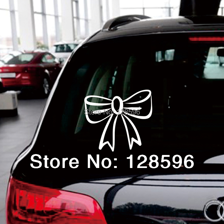 Bow Tie Girl Pink Cute Sexy Hello Kitty Car Decals Funny Bumper - Hello kitty car decal stickers