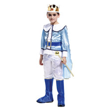 Kids Child Noble Medieval Europe Royal Prince King Costume for Boys Halloween Carnival Masquerade Mardi Gras Party Outfit