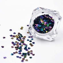 NEW 6 Colors Chameleon Nail Sequins Paillette Diamond Holo Glitter Flakies 3mm Sparkle Manicure Art Decoration