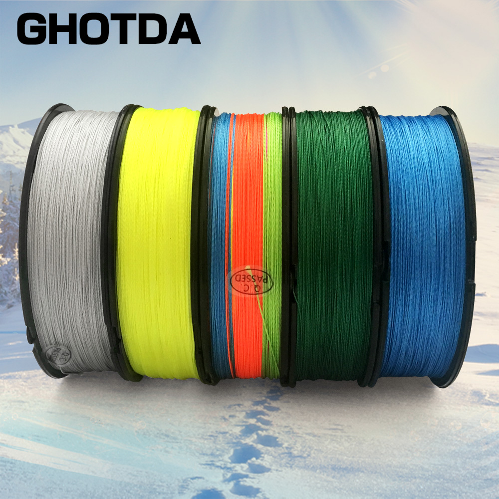 GHOTDA 9 Strands 8 Strands 4 Strands 300M PE Braided Fishing Line Saltwater 9/8/4 Weaves Superior Multifilament Fishing Line 9 0 0 510mm nylon fishing line thread red 300m