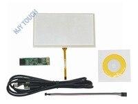 6.5 pulgadas de Película a Película Panel de Pantalla Táctil Resistiva de 4 Hilos 155x89mm con kit Controlador USB Para DVD del coche GPS