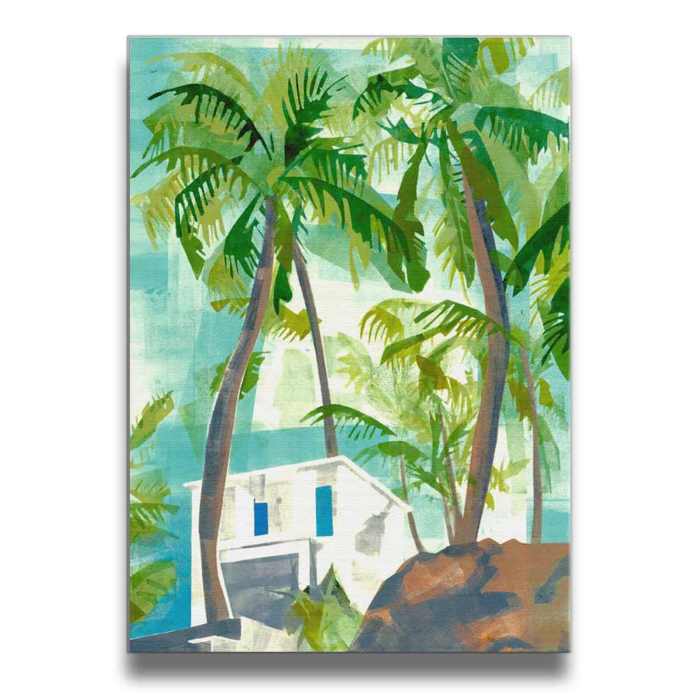 palm trees Frameless Art Picture Wall Frames Wood Prints 16*20 Inches
