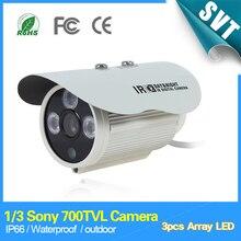 1/3 Sony 700TVL 960 h 3 шт. Массив ИК-светодиодов Открытый внутренний водонепроницаемый безопасности видеонаблюдения Камера с кронштейном sk-099