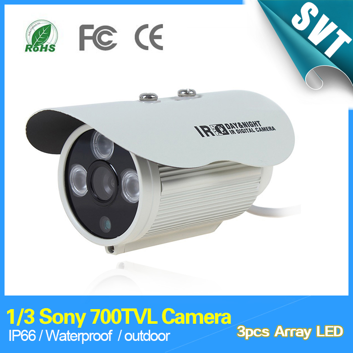1/3 Sony 700TVL 960H 3pcs Array IR LEDS outdoor indoor waterproof Security CCTV surveillance Camera with bracket SK-099 new 800tvl cmos 960h 36pcs ir leds 30 meters day night waterproof surveillance cctv camera with bracket for indoor or outdoor
