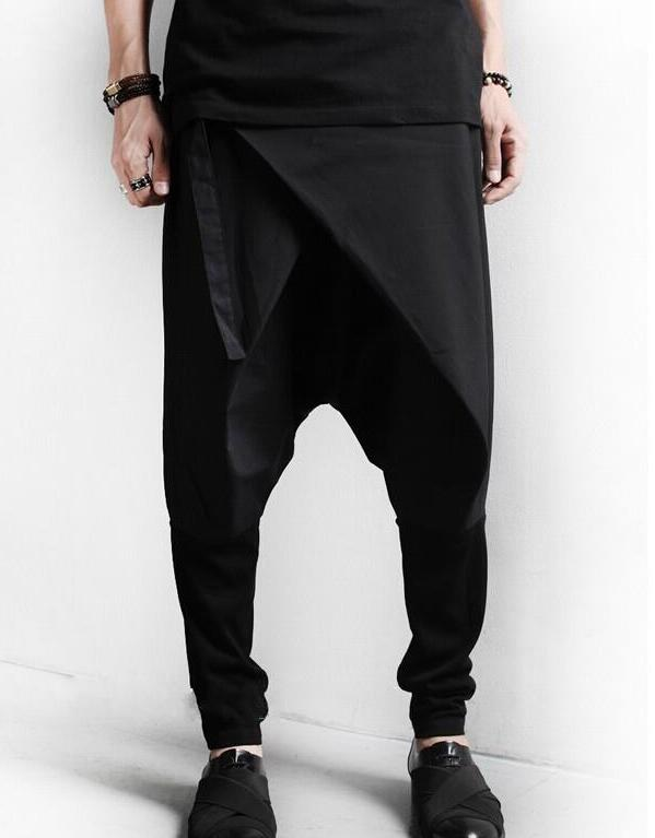 27-42 HOT 2019 Spring Men's New Fashion Personality stereo oblique thread stitching harem pants