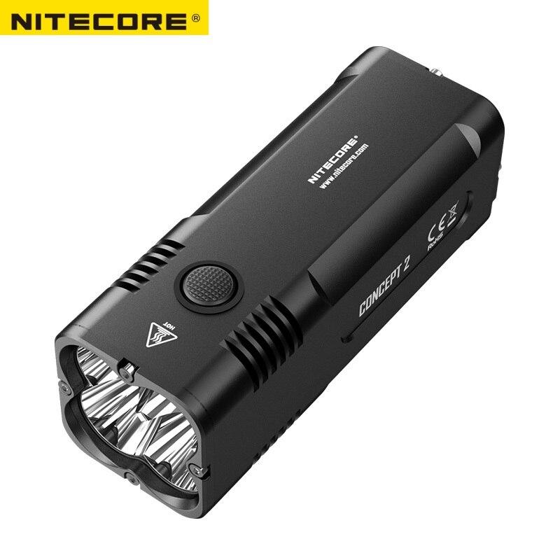 2018 новый NITECORE концепция 2 C2 6500 люмен 4 х CREE XHP35 HD Перезаряжаемые Открытый Отдых поисковые фонарик Бесплатная доставка