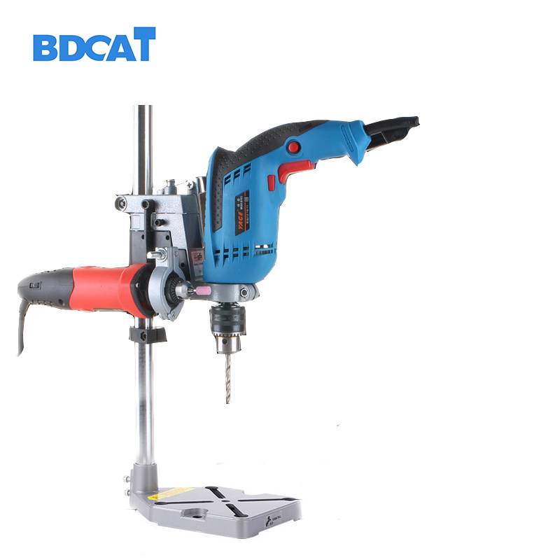 Dremel Electric Drill Stand Power Rotary Tools Accessories Bench Drill Press Stand DIY Tool Double Clamp Base Frame Drill Holder electric power drill press stand table for drill workbench repair tool clamp for drilling collet table 35