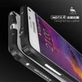 Luphie роскошный ультратонкий авиационного алюминия Бампер металлический каркас case Cover Для Samsung Galaxy Note 4 Телефон Защитной оболочки