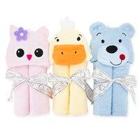 2015 diseños de moda animal capucha bebé Bañeras traje de dibujos animados bebé toalla carácter cabritos Bañeras robe playa infantil Toallas 57*77 cm