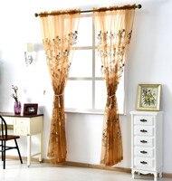European Korean Pastoral Embroidery Curtain Custom Window Float Window Balcony Living Room Bedroom