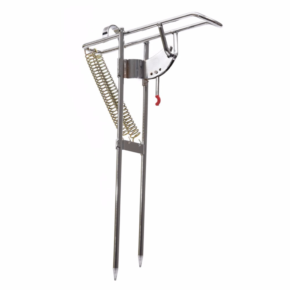 Stahl Automatische Doppel Frühling Winkel Angelrute Angelgerät Halterung Anti-rost-stahlstapler Angeln Halterung Rutenhalter Zubehör