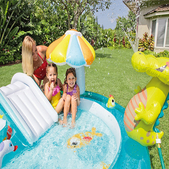Inflatable Pool Slides | Fun Summer Inflatable Water Park Children Home Garden Lawn Water Slides Pools Crocodile Spray Water For Baby Swimming Play Water