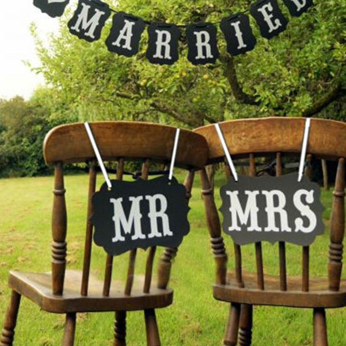 mr and mrs chair signs reclining accent canada easter photo props bride groom booth unique wedding decor in photobooth from home garden