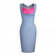 Neue Frauen Sommer Kleider Elegante Pinup Sexy Dot Tunika Business Club Cocktail Party Bodycon Bleistift Etuikleid Vestidos Feminino