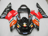 Aftermarket body parts fairing kit for Yamaha YZFR1 00 01 red black fairings set YZF R1 2000 2001 YI16