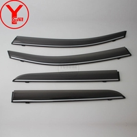 YCSUNZ ABS chrome door window deflector rain guards sun visor parts car styling accessories For toyota chr c hr 2018 2019