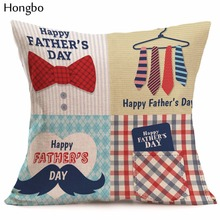 Father 's Day Gift Cotton Linen Cushion Pillow Cover