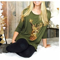 Unicornio bts blusa de Algodón Mujeres de Manga Larga Camiseta floja con Lentejuela de one direction geek pug cactus ropa mujer harajuku totoro