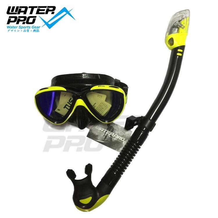 TUSA M211 Mask + SP 0101 Dry Snorkel Mask Snorkel Set for Scuba Diving Snorkeling