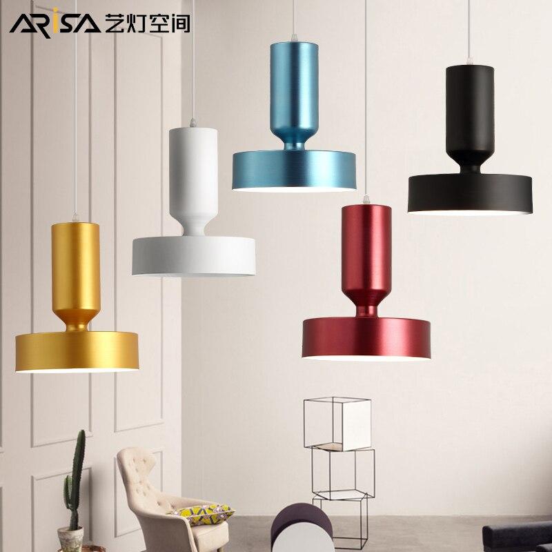 LED living room lamps modern Aluminum Pendant Lights creative bedroom Fixtures Nordic Lighting restaurant hanging lights