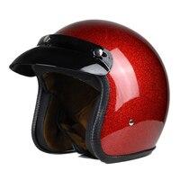 Retro New Vintage Xe Máy Mũ Bảo Hiểm Xe Máy 3/4 Mở Mặt Half Helmet Cruiser Touring Chopper Biker Cafe Racer Moto Mũ Bảo Hiểm DOT