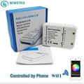 RGB/WW/CW WIFI Regulador LLEVADO DC12-24V IOS Android Smart Link Music control de Temporizador para luces de tira llevadas la decoración del hogar