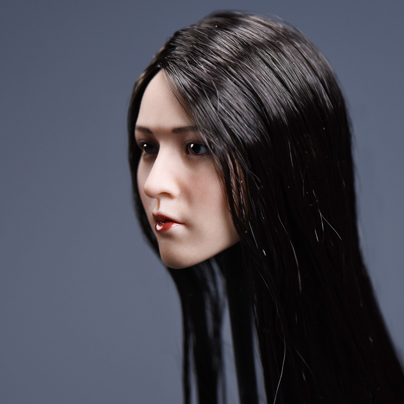 1/6 Long Straight Hair Black Yun Series Asian Women Head F Suntan Female Body футболка quelle venca 1006531