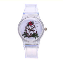 Transparent Silicone Watches Women Quartz Wristwatch Fashion Casual Crystal Ladies Watch Novelty Cartoon Clock Reloj Mujer Q3(China)