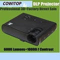 Short Throw DLP Projector 6000 ANSI Lumens Best for Education, Business Presentation, Home Entertainment Full HD Projector