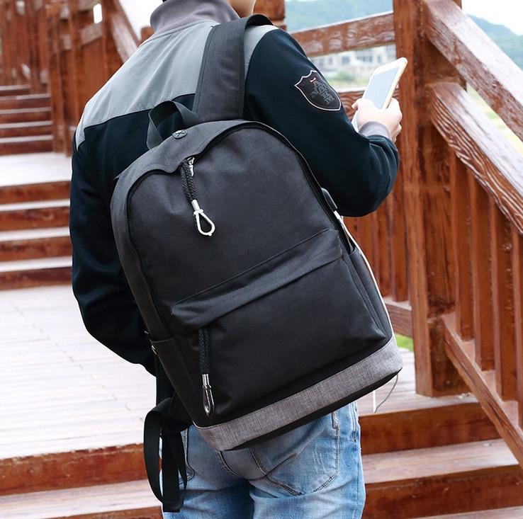 MIWIND toile hommes/femmes sac à dos étudiant sacs d'école pour adolescent filles garçon voyage sac à dos sac à dos cartable TMH1166 - 3