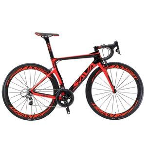 SAVA углеродный велосипед углеродный шоссейный велосипед 22 скоростной гоночный велосипед полностью углеродная рама с SHIMANO ULTEGRA UT R8000 Groupsets