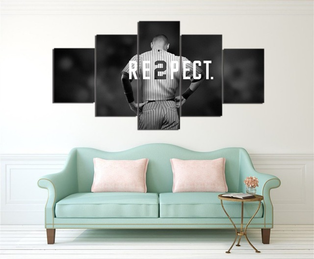 New York Yankees Canvas Painting Wall Art 5 Pieces Prints Home Decor Picture Panels Poster For