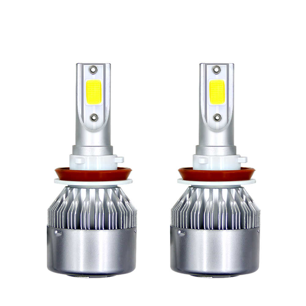 2Pcs Car Lights Bulbs LED H4 H7 9003 HB2 H11 H1 H3 H8 H9 880 9005 9006 H13 9004 9007 LED Headlight Hi/Lo Power Bulbs Kit XNC