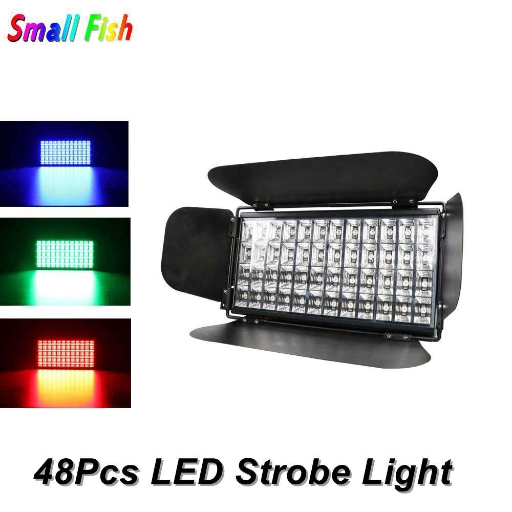 48 LEDS Strobe Licht Voor Dj Disco Party Flash Licht Voor Stage Club RGB Kleurmenging Blinder Effect Dj laser Lights Club