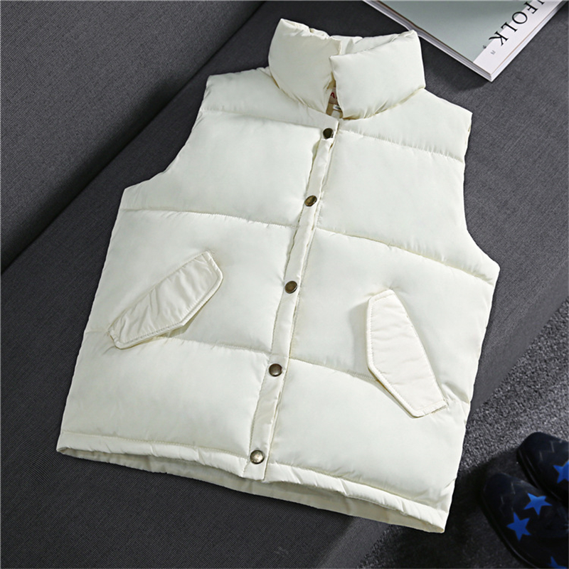 2017Autumn And Winter Korean Version Of The New Women's Cotton Vest Collar Solid Short Section VE014 free shipping new arrival 2015 ladies korean version of cultivating all match thickening cotton vest with fur collar