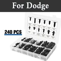 240pcs Retainers Clips Set Fastener Rivets Remover Tools Case Car For Dodge Avenger Caliber Challenger Charger