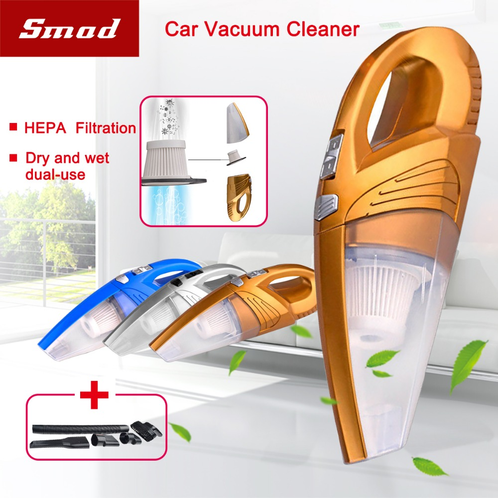 Car Vacuum Cleaner, DC 12V 120W 4kPA High Power Portable Wet/Dry Dual Use Auto Car Vacuum Cleaner with 5m Power Cord 2016 new arrival durable quality hot selling abs 120 w high power car with dry wet amphibious cleaner hose